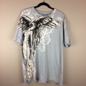Men's Affliction Angel distressed graphic tee